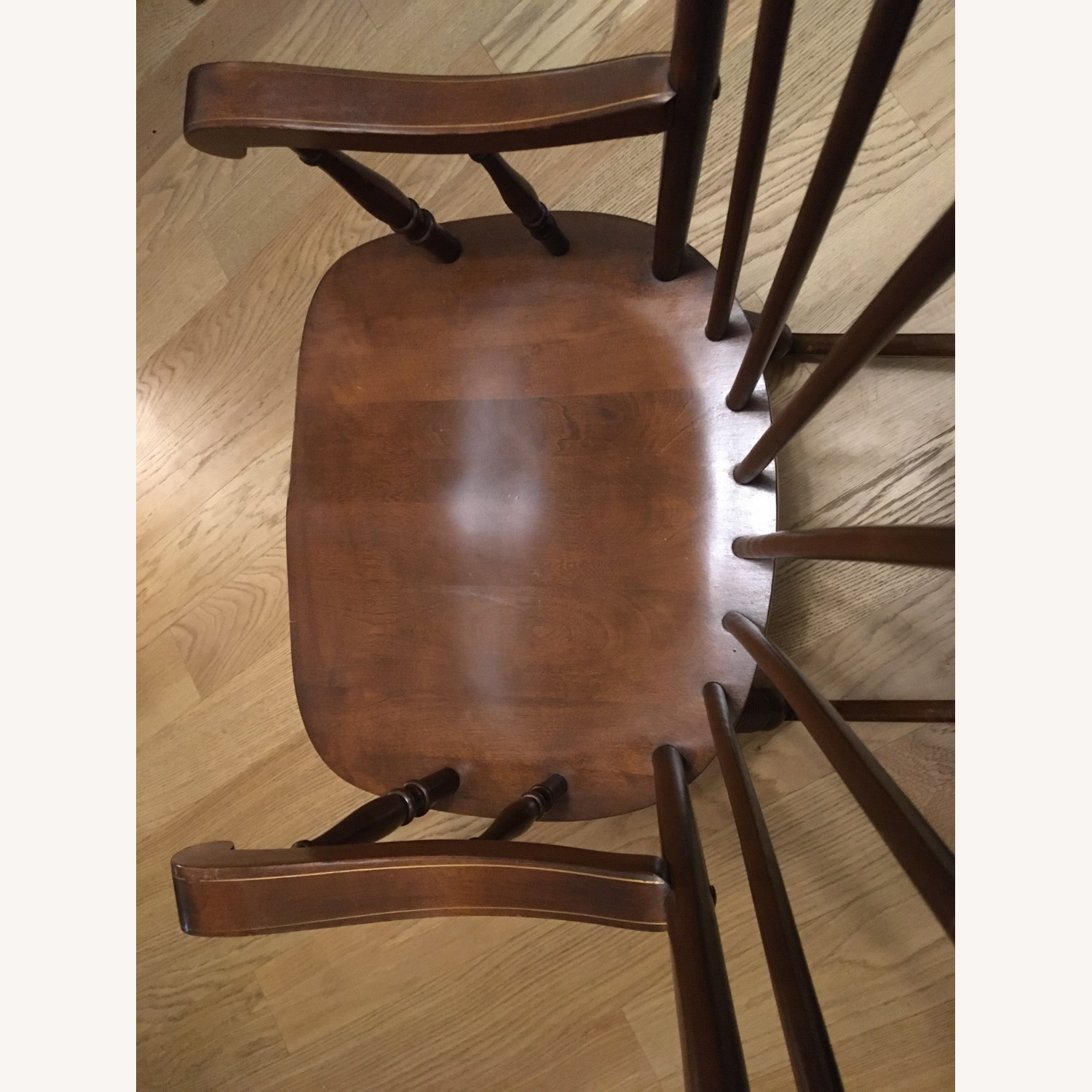 Vintage Rocking Chair with Americana Stenciling - image-9