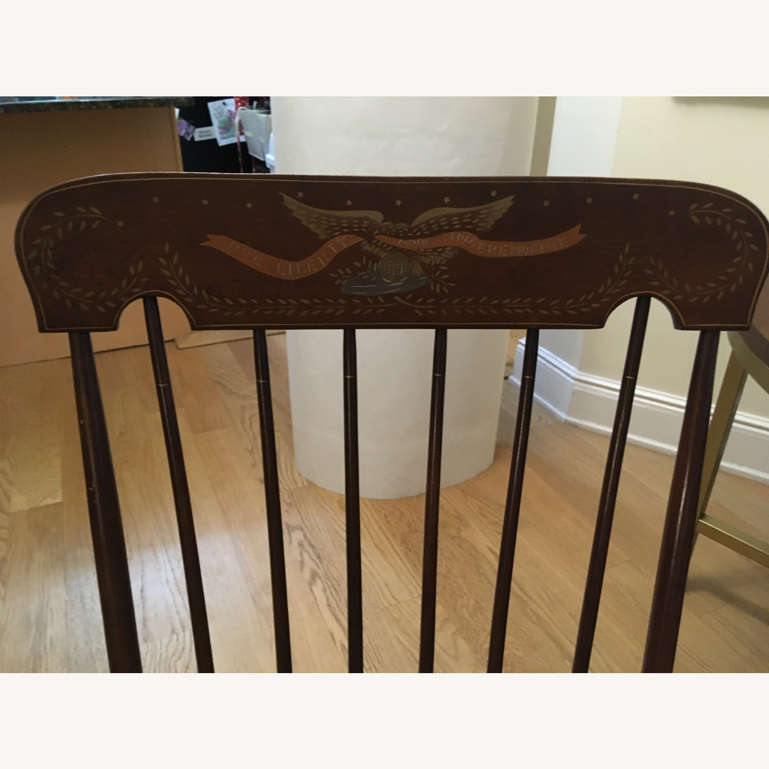 Vintage Rocking Chair with Americana Stenciling - image-5