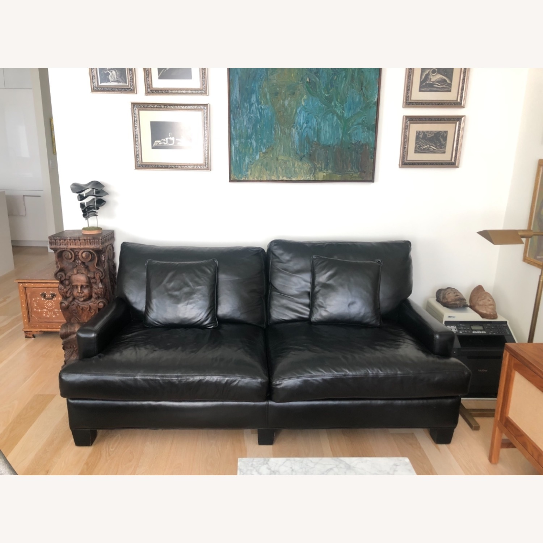 Elegant Black Leather Couch - image-2