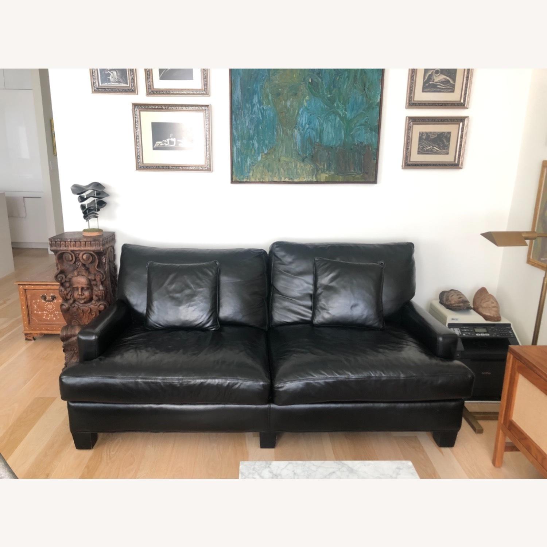 Elegant Black Leather Couch - image-1