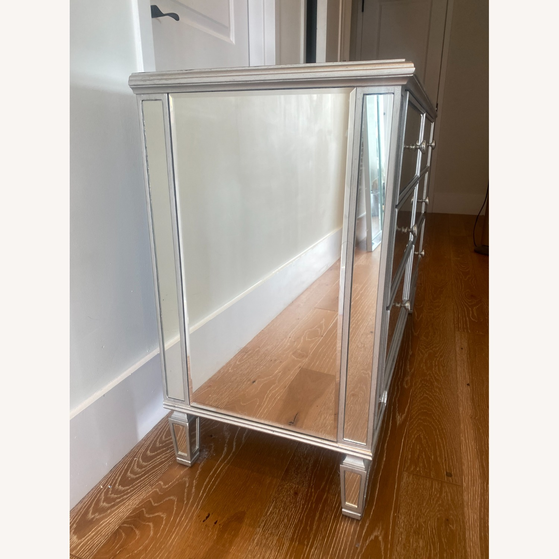 Wayfair 6 Drawer Double Mirrored Dresser w Silver - image-4
