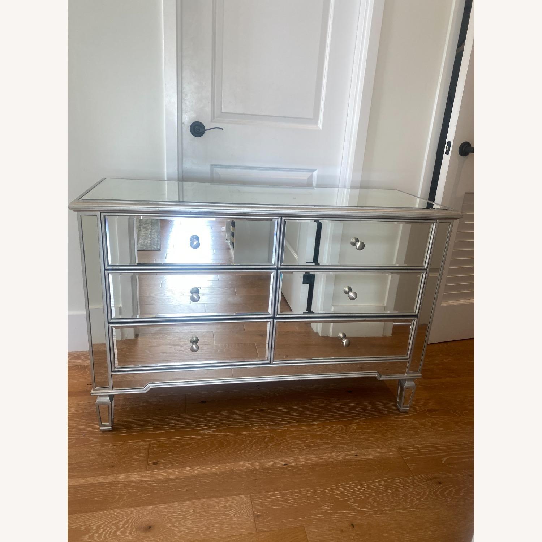 Wayfair 6 Drawer Double Mirrored Dresser w Silver - image-3