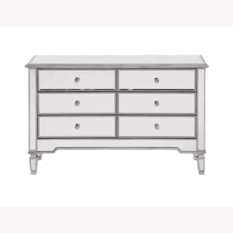 Wayfair 6 Drawer Double Mirrored Dresser w Silver - image-1