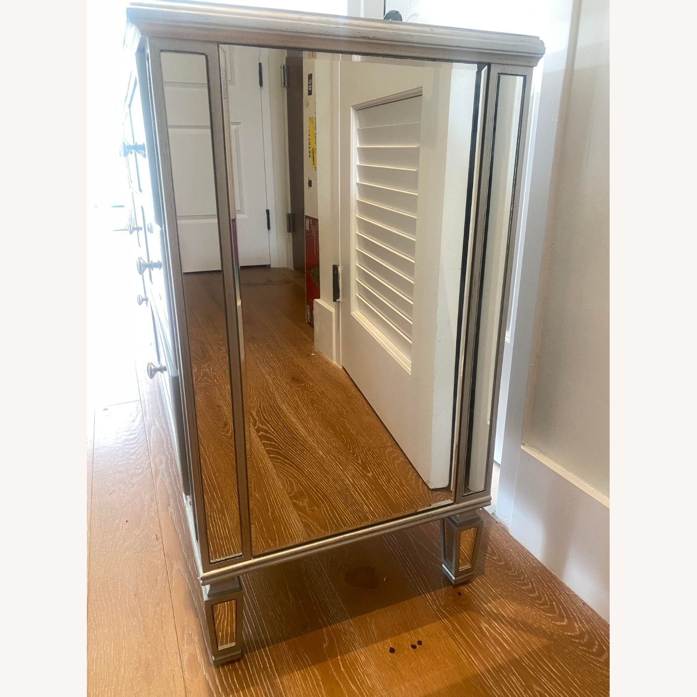 Wayfair 6 Drawer Double Mirrored Dresser w Silver - image-2