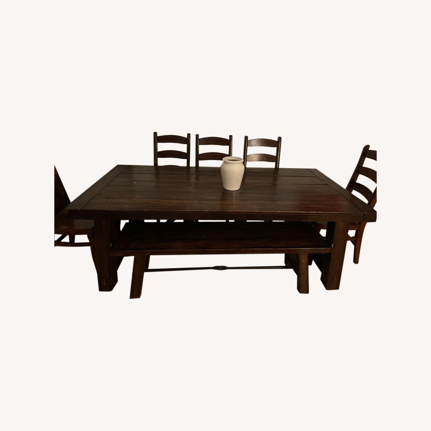Pottery Barn Benchwright Extension Table Set - image-0