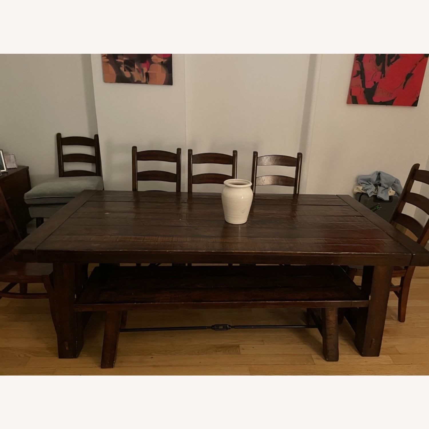 Pottery Barn Benchwright Extension Table Set - image-1
