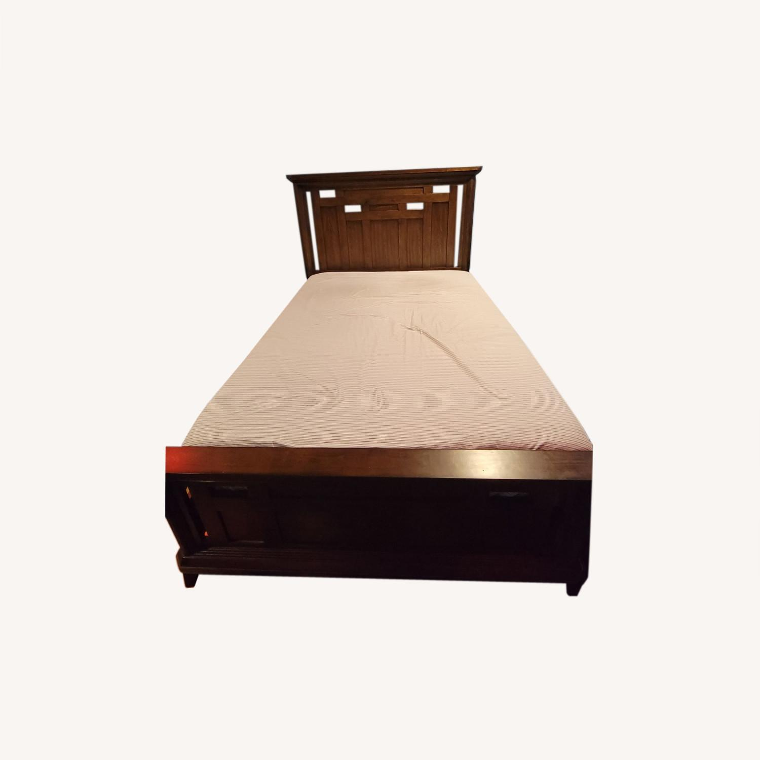 Queen Bed Frame, Brown - image-4