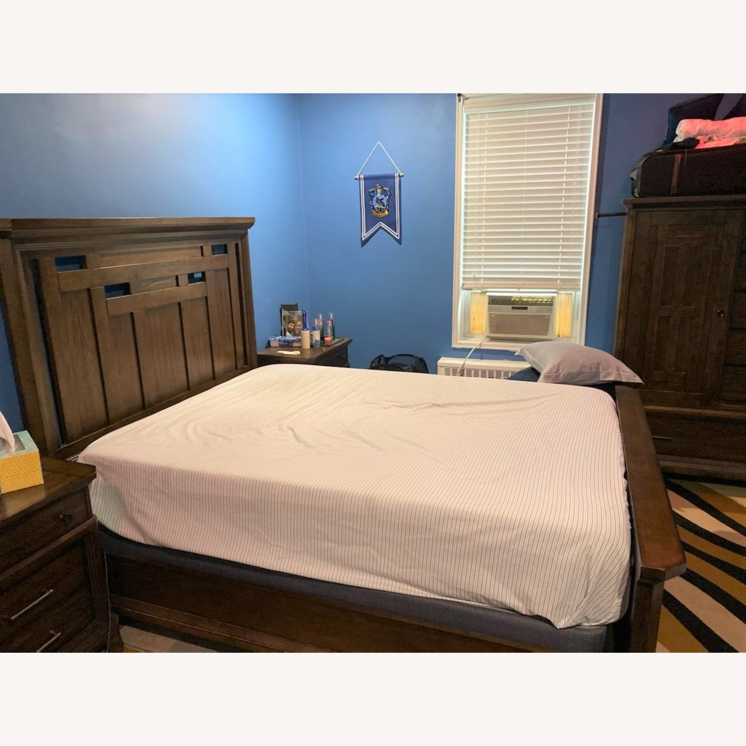 Queen Bed Frame, Brown - image-2
