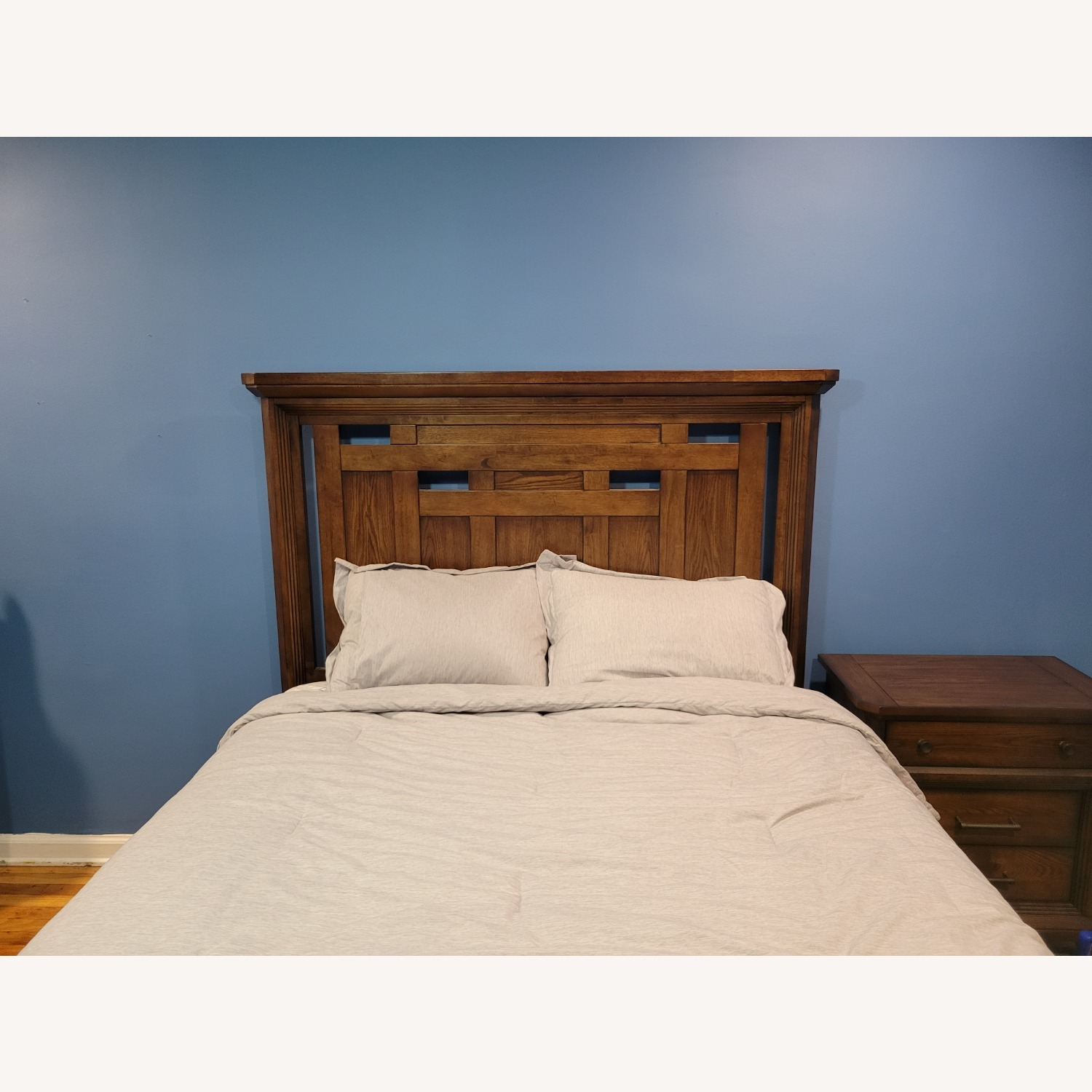 Queen Bed Frame, Brown - image-5