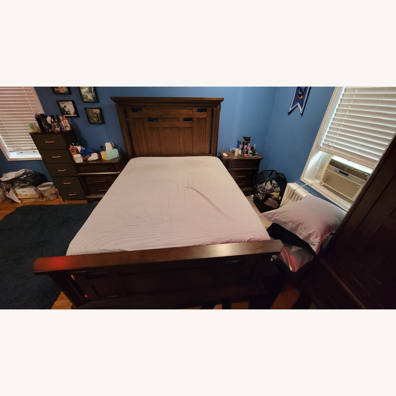 Queen Bed Frame, Brown - image-1