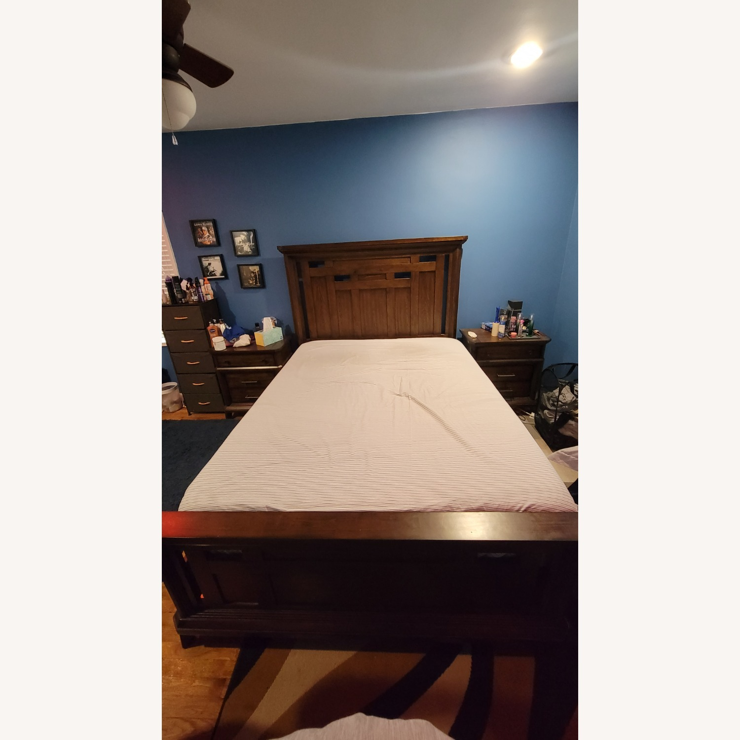 Queen Bed Frame, Brown - image-3
