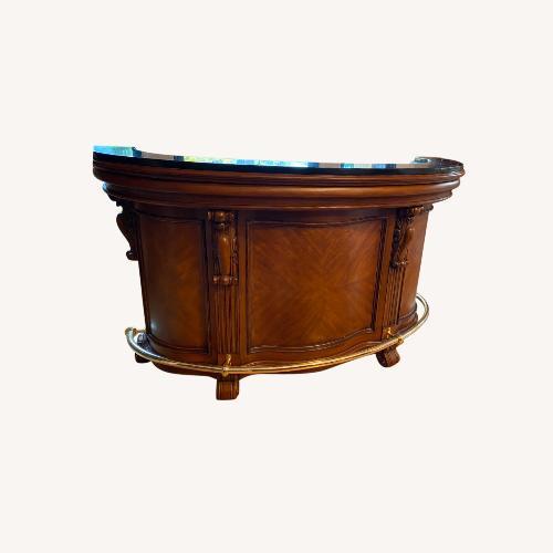 Used Wooden Bar, Granite Top for sale on AptDeco