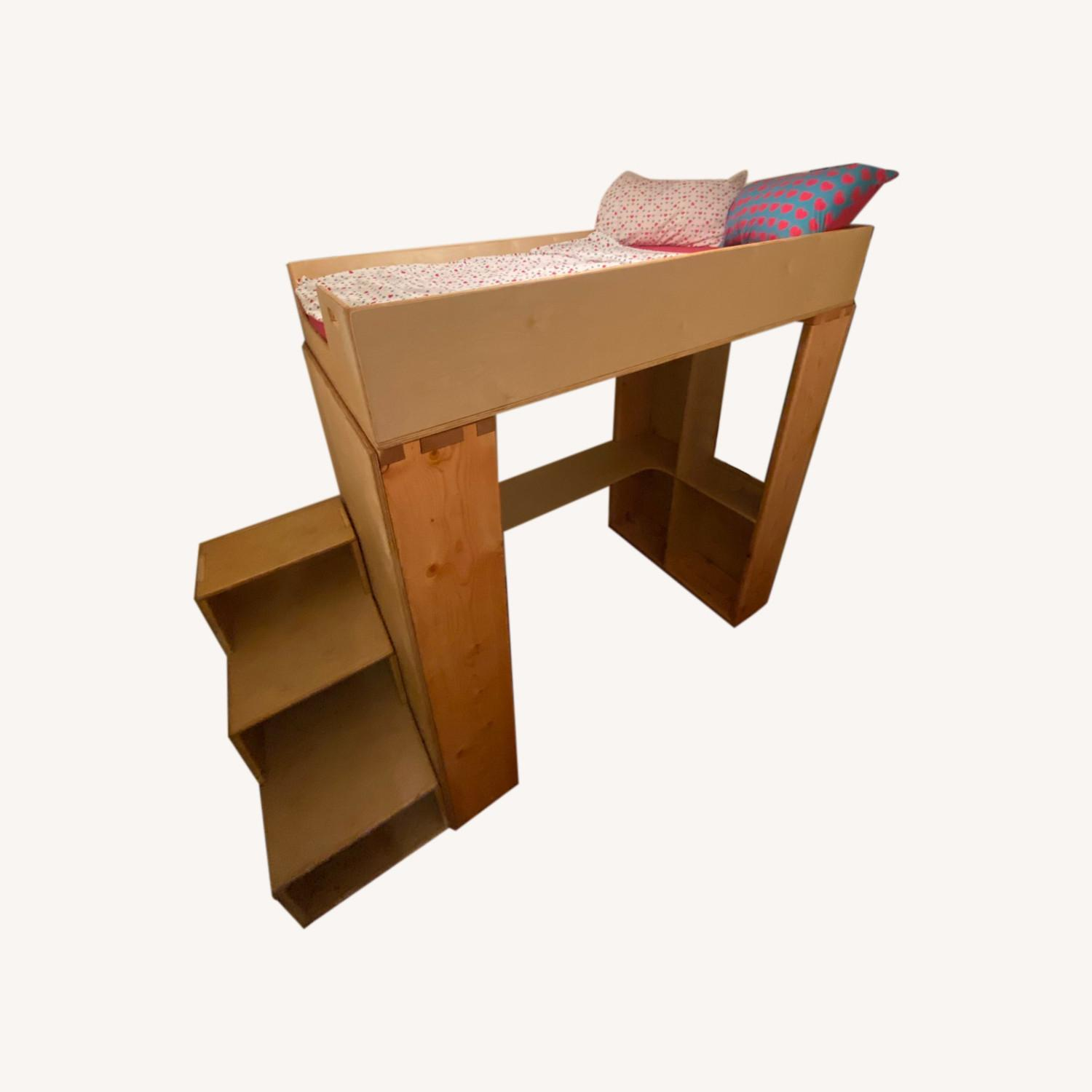 Twin Loft with Built-In Desk & Staircase Dresser - image-0