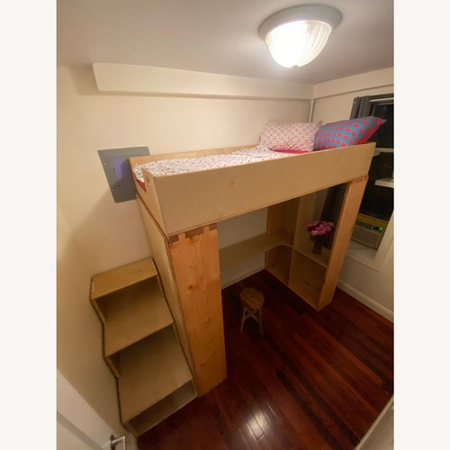 Used Twin Loft with Built-In Desk & Staircase Dresser for sale on AptDeco