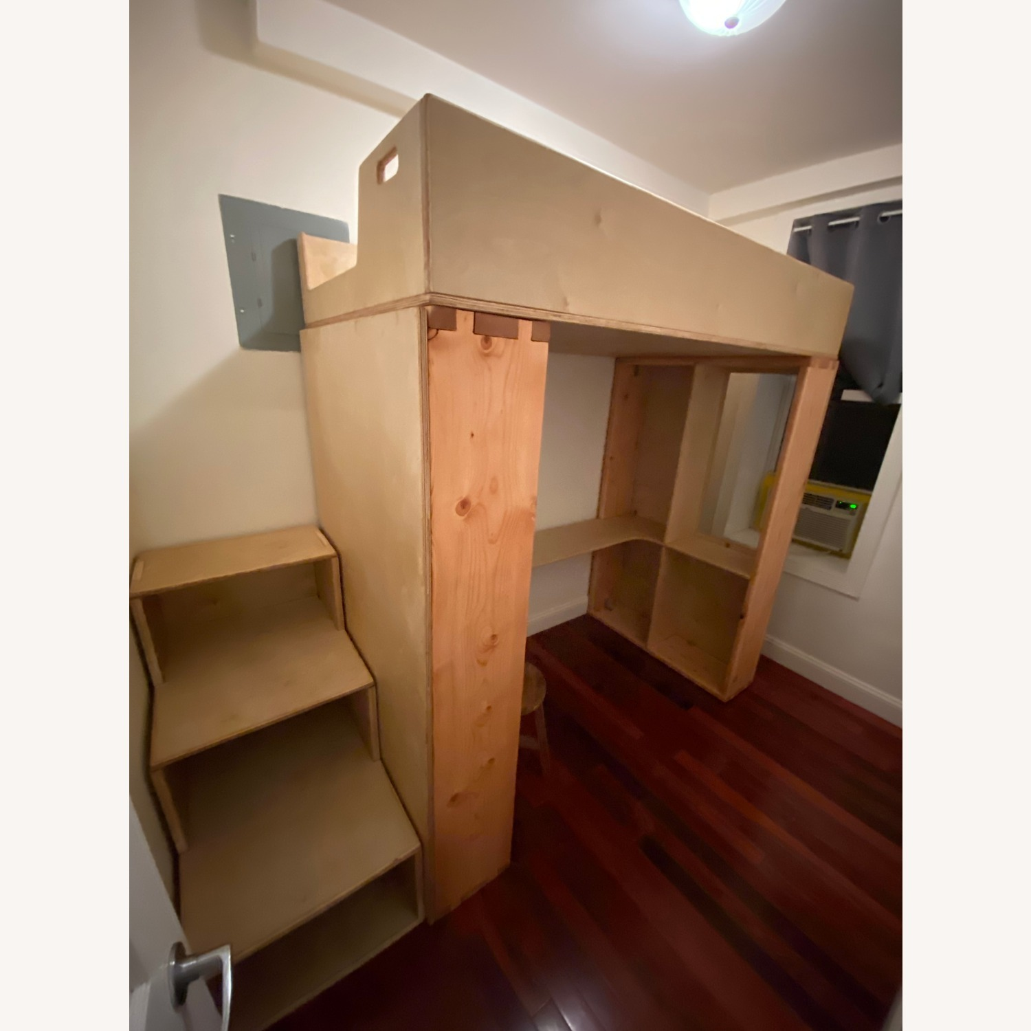 Twin Loft with Built-In Desk & Staircase Dresser - image-8
