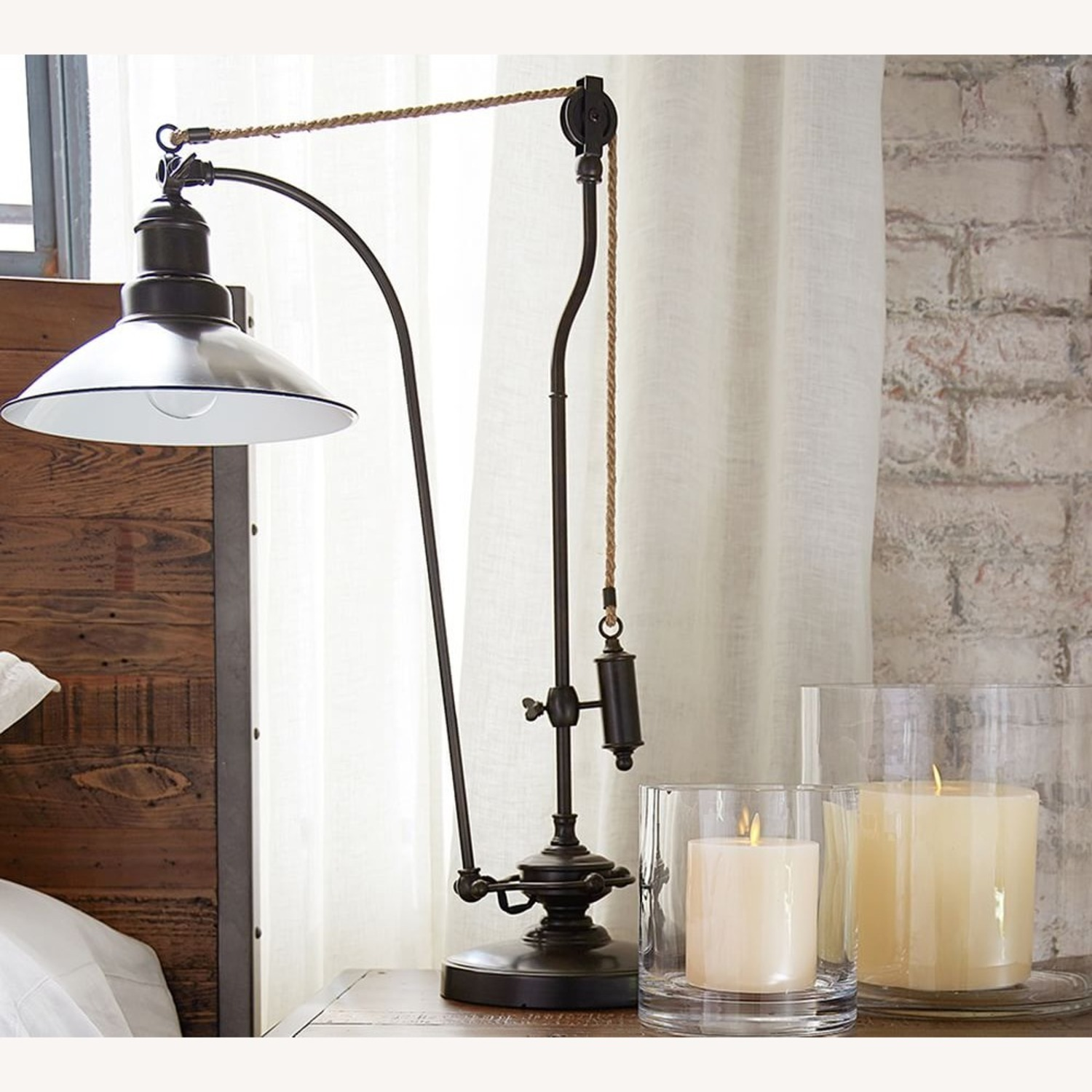 Pottery Barn Glendale Pulley Task Table Lamp - image-3