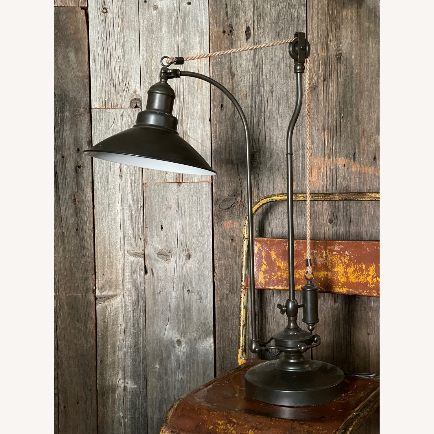 Pottery Barn Glendale Pulley Task Table Lamp - image-7