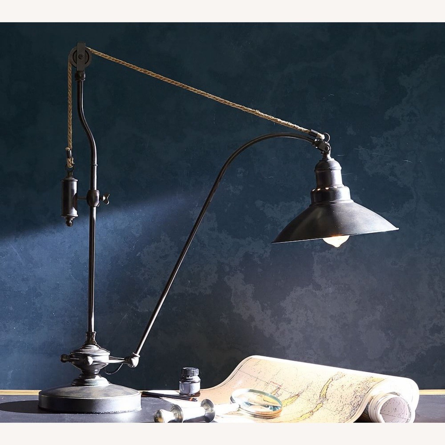 Pottery Barn Glendale Pulley Task Table Lamp - image-1