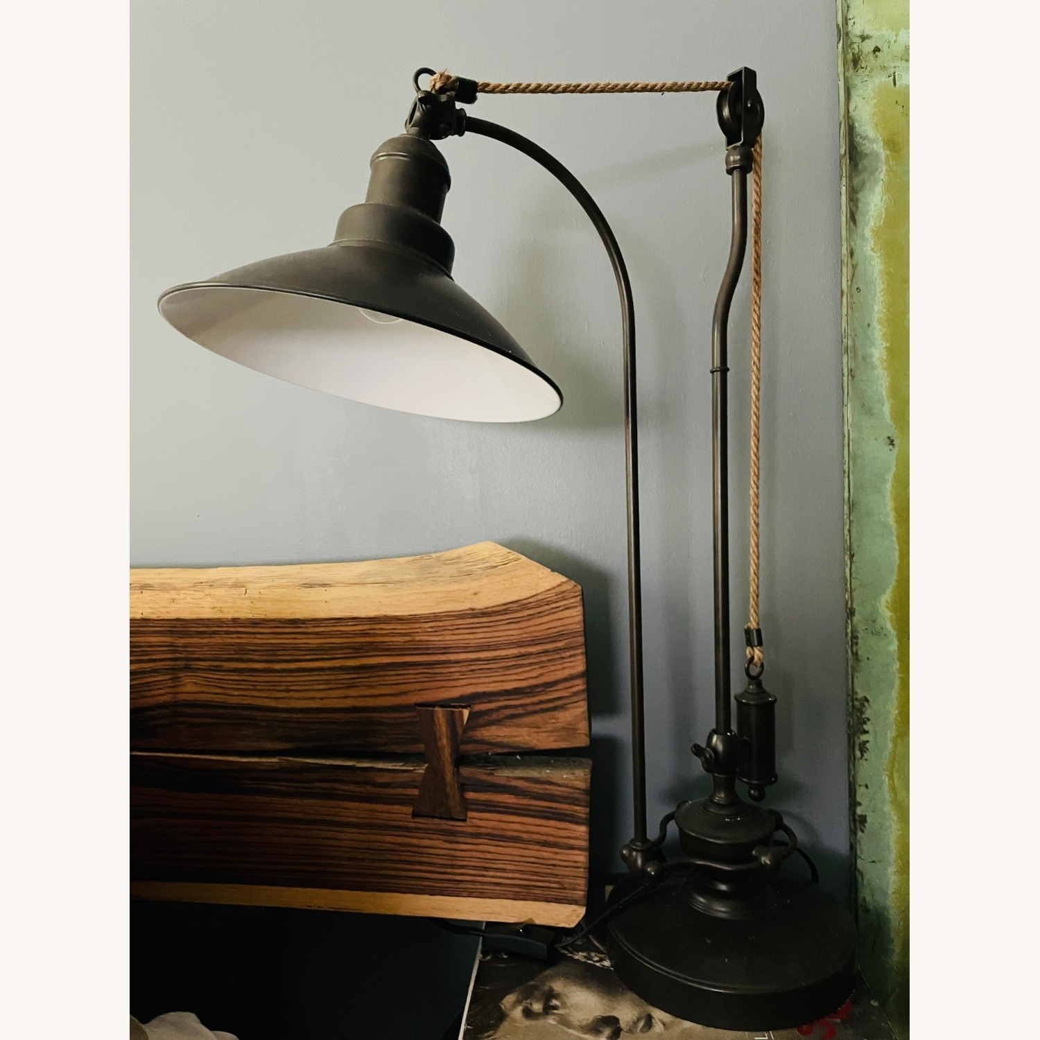 Pottery Barn Glendale Pulley Task Table Lamp - image-6