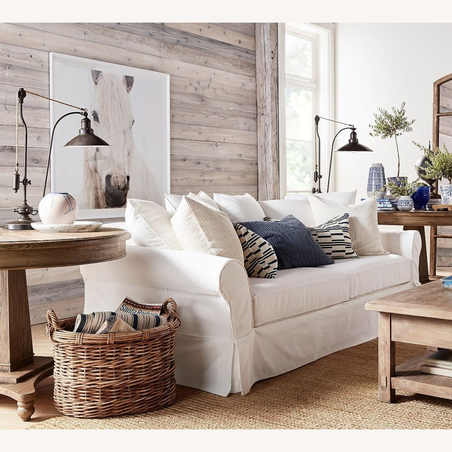 Pottery Barn Glendale Pulley Task Table Lamp - image-5