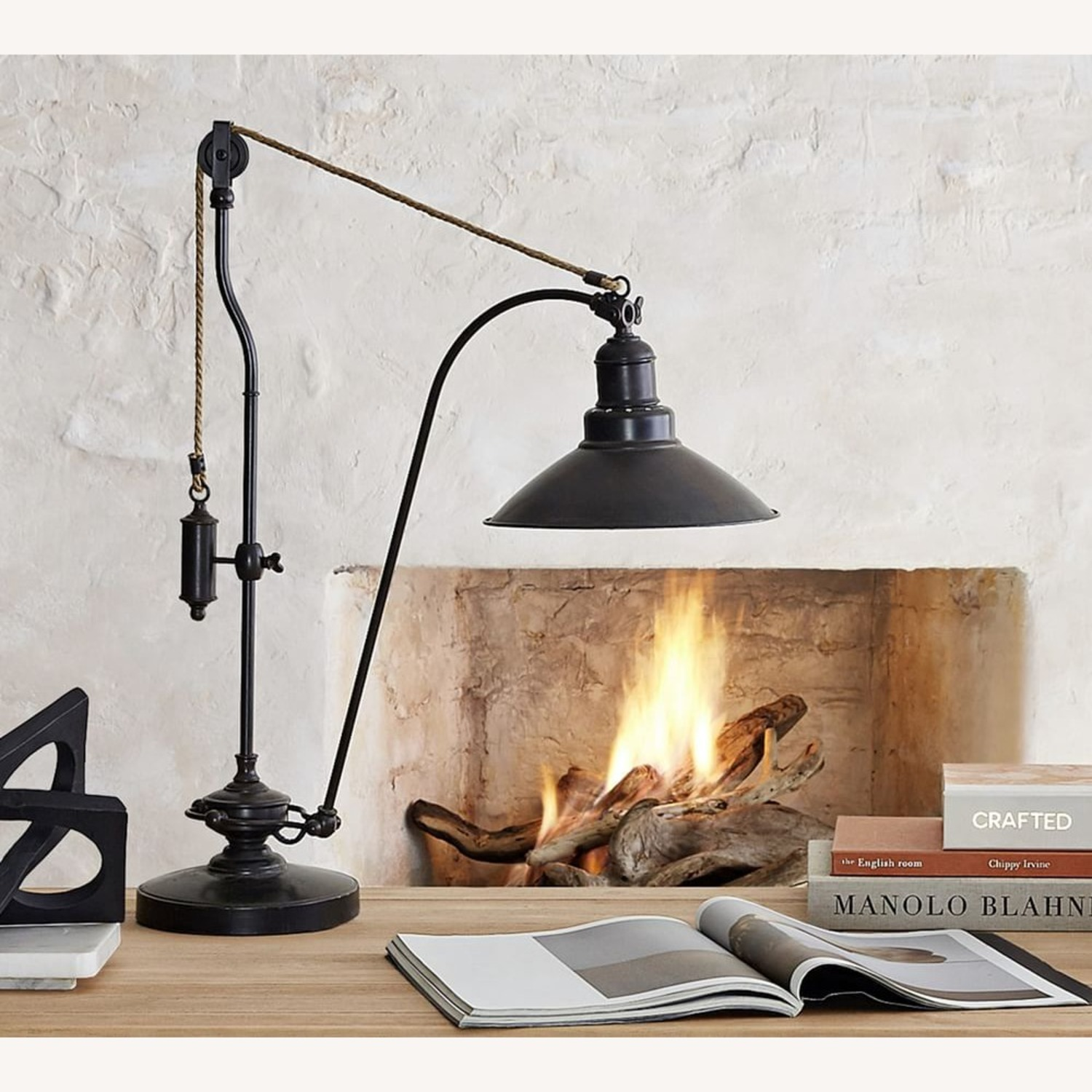 Pottery Barn Glendale Pulley Task Table Lamp - image-2