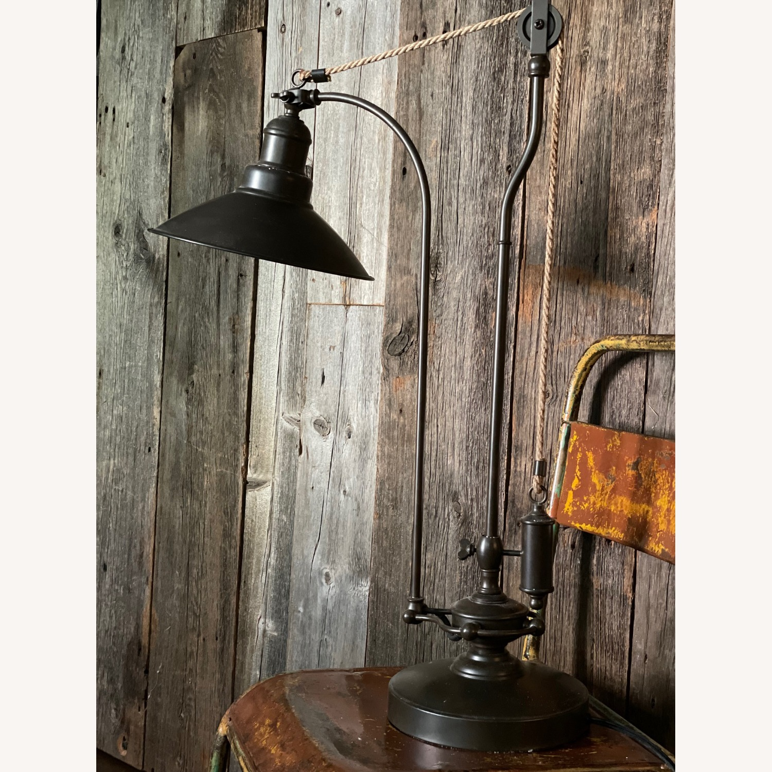 Pottery Barn Glendale Pulley Task Table Lamp - image-9