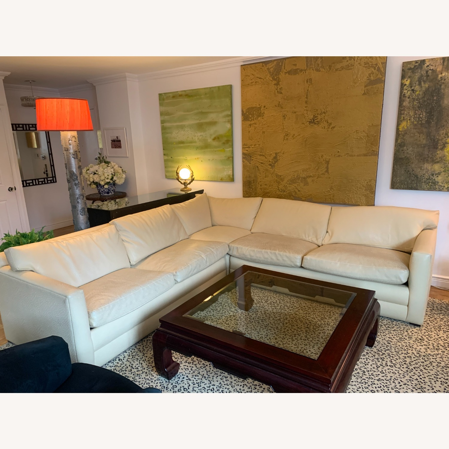 Sectional Sofa With Queen-Size Bed - image-0