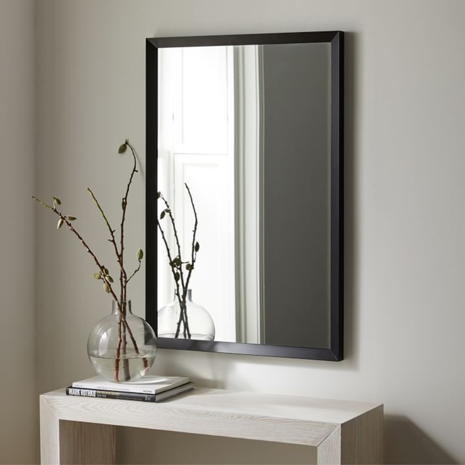 West Elm Thick Metal Frame Wall Mirror - image-1