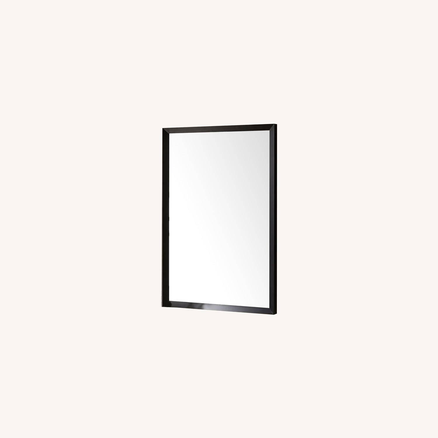 West Elm Thick Metal Frame Wall Mirror - image-0