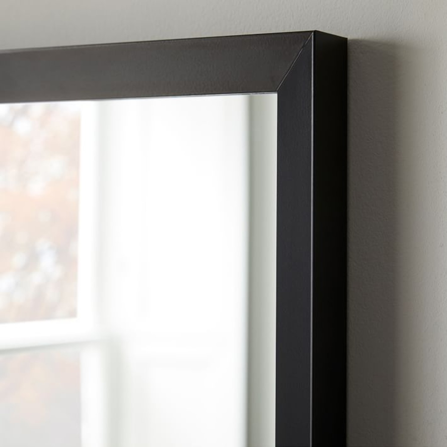 West Elm Thick Metal Frame Wall Mirror - image-3