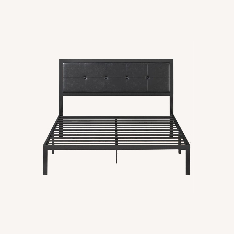 Zinus Cherie Faux Leather Metal Platform Bed Frame - image-0