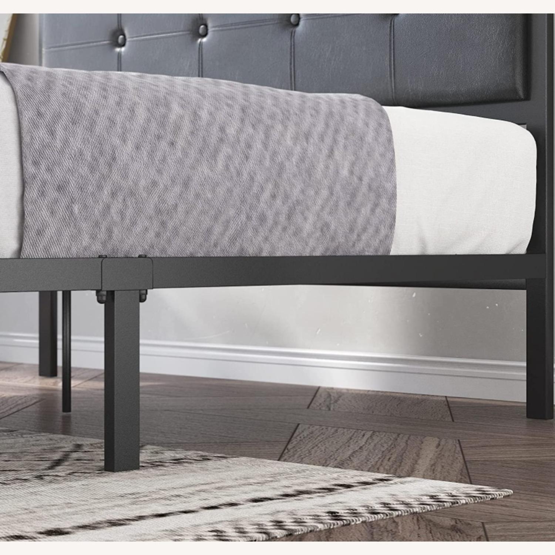 Zinus Cherie Faux Leather Metal Platform Bed Frame - image-3
