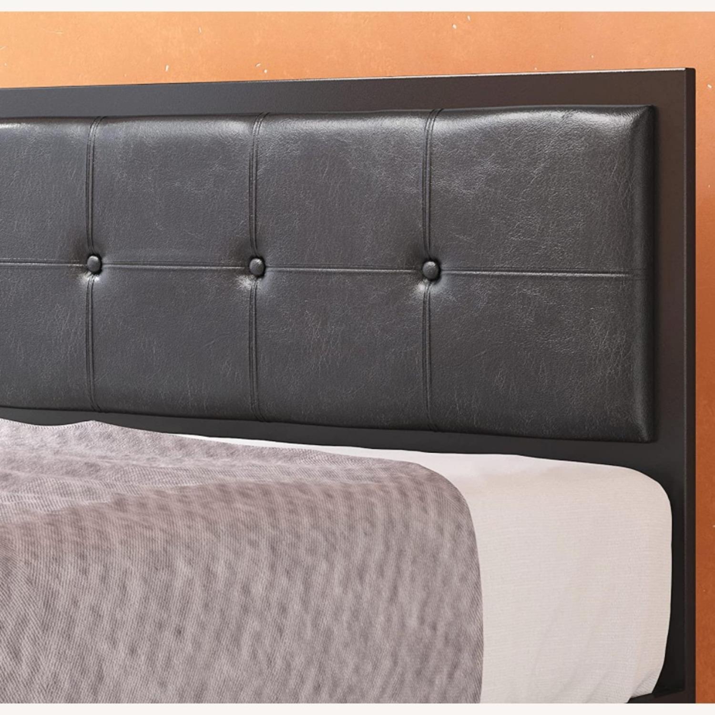 Zinus Cherie Faux Leather Metal Platform Bed Frame - image-4