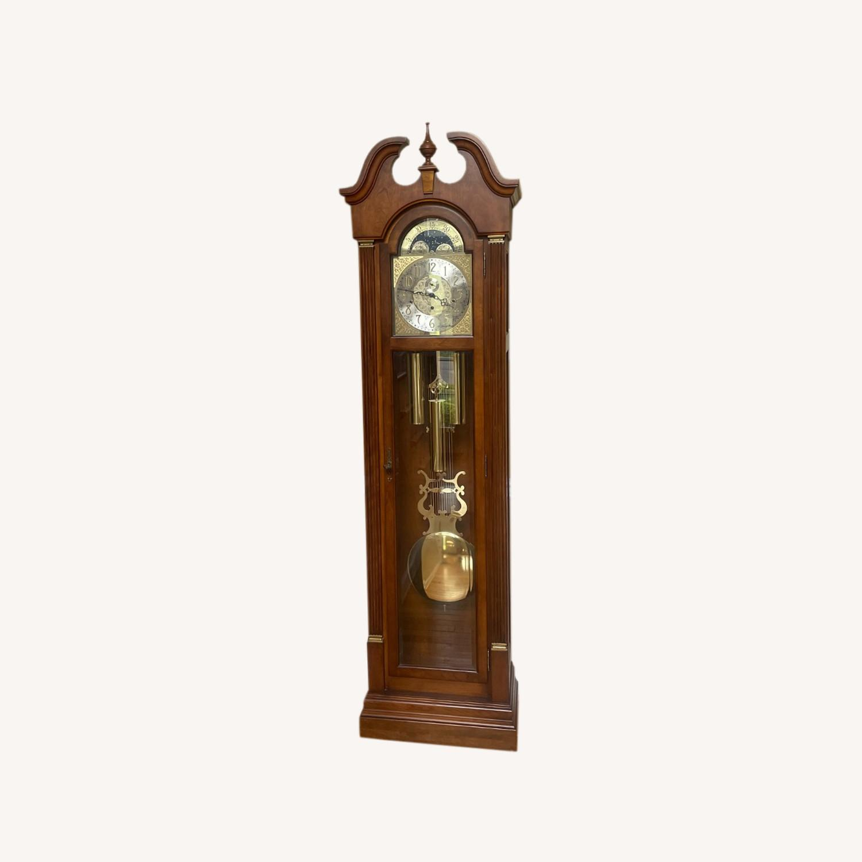 Ethan Allen Cherry Wood Grandfather Clock - image-0