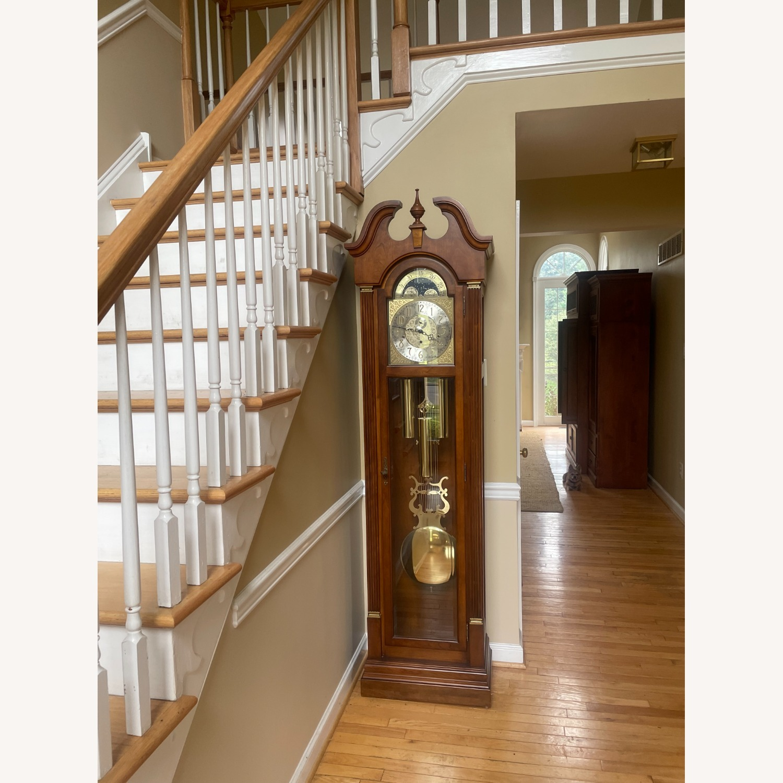 Ethan Allen Cherry Wood Grandfather Clock - image-3