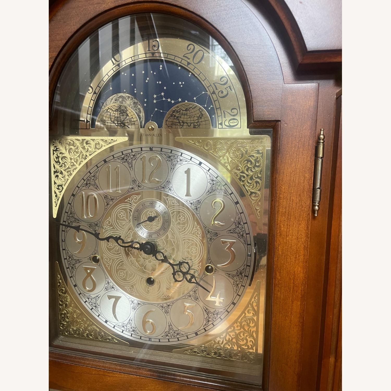 Ethan Allen Cherry Wood Grandfather Clock - image-2