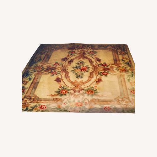 Used Royal Palace Handmade Rug Savonnerie, Ivory for sale on AptDeco