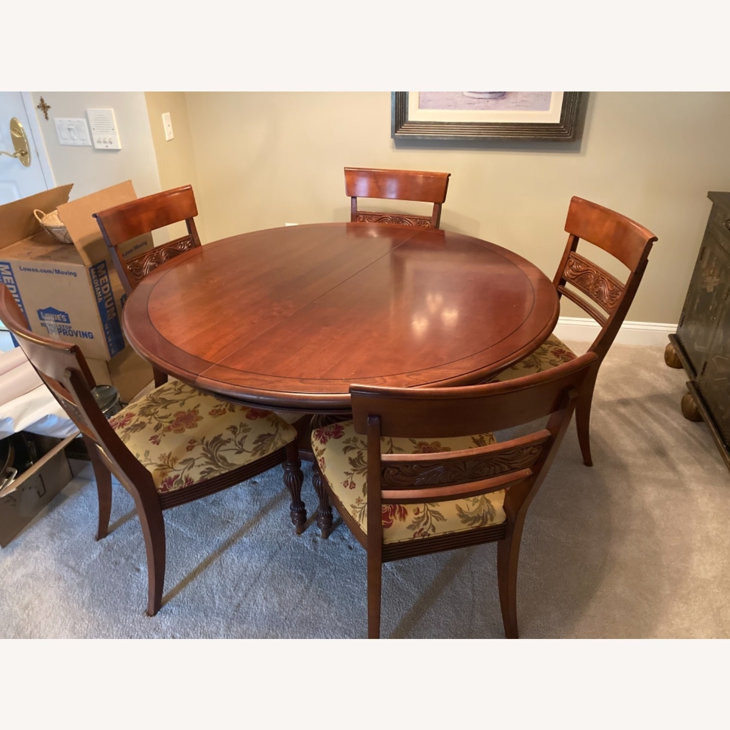 Ethan Allen Dining Room Table With 5 Chairs - image-1
