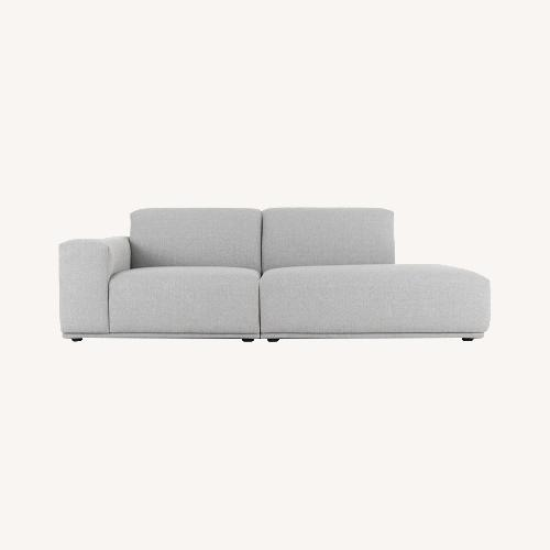 Used Castlery Todd Right Chaise Sofa, Light Gray for sale on AptDeco