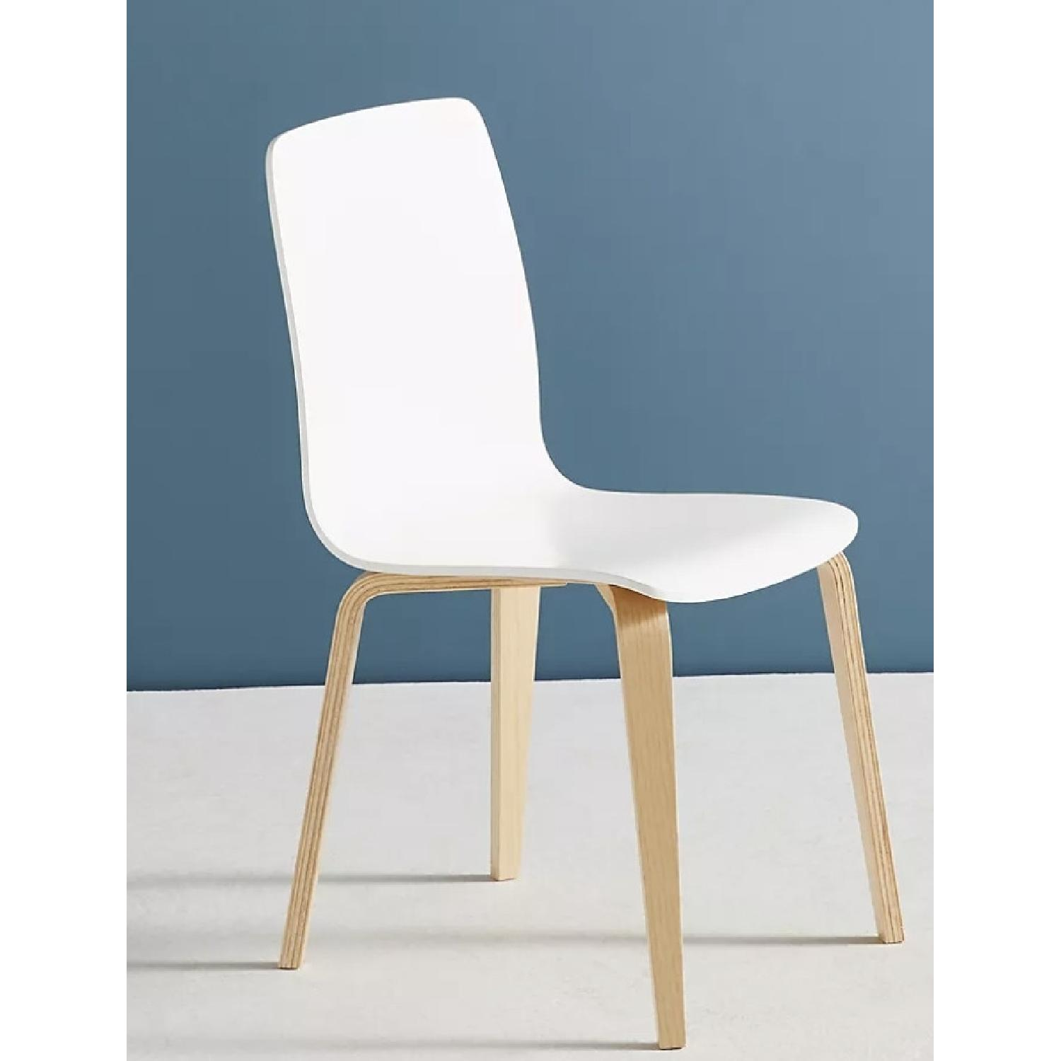 Anthropologie White Tamsin Dining Chairs (4) - image-7
