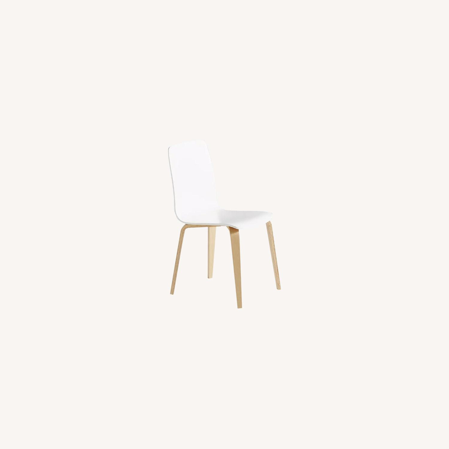 Anthropologie White Tamsin Dining Chairs (4) - image-0