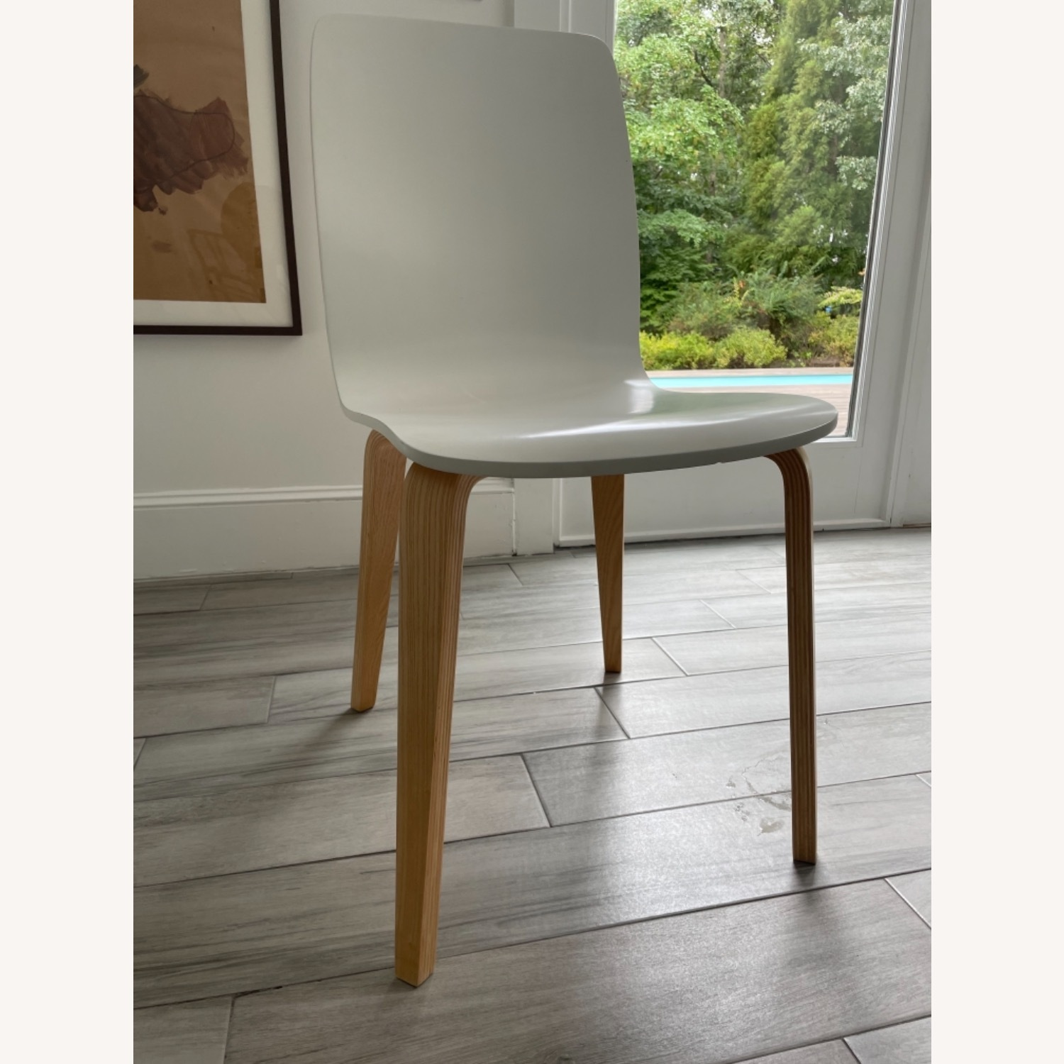 Anthropologie White Tamsin Dining Chairs (4) - image-6