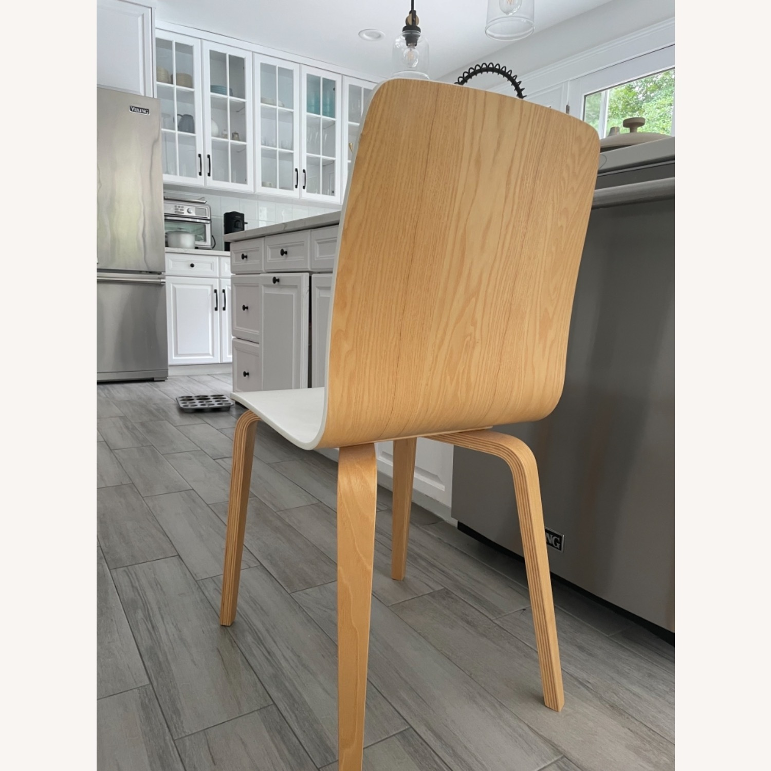 Anthropologie White Tamsin Dining Chairs (4) - image-2