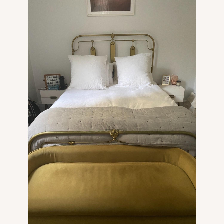 Anthropologie Gold Bed Frame - image-1