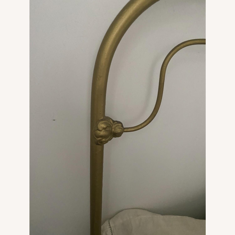 Anthropologie Gold Bed Frame - image-4