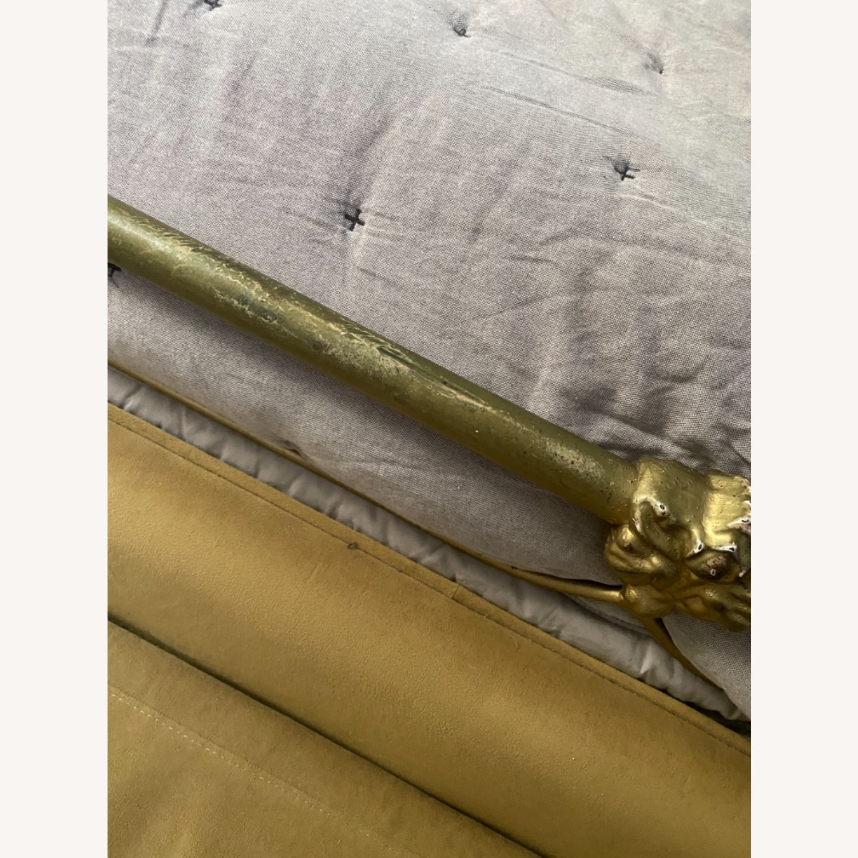 Anthropologie Gold Bed Frame - image-2