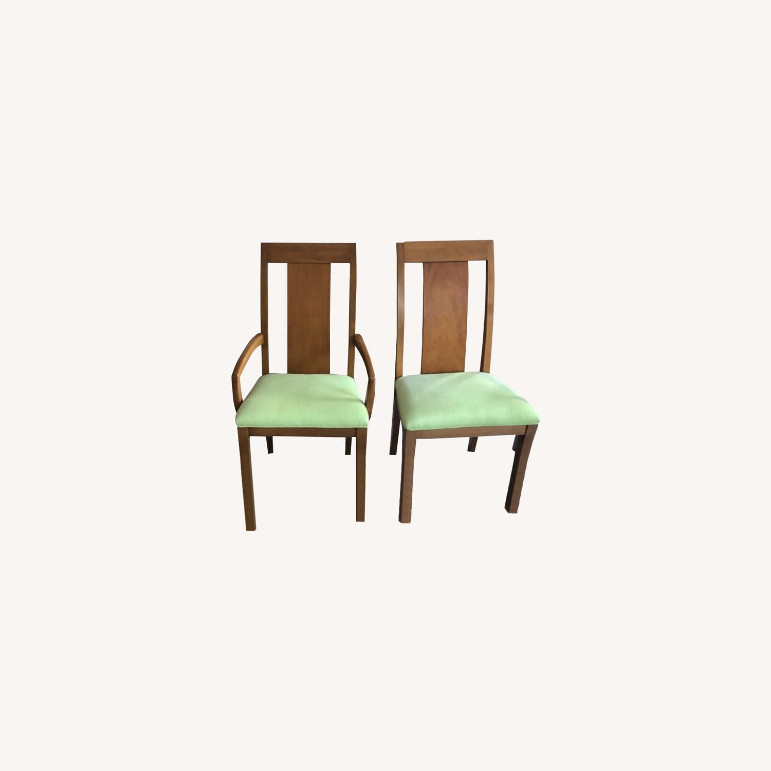Ethan Allen High Back Dining Chair Set - image-0