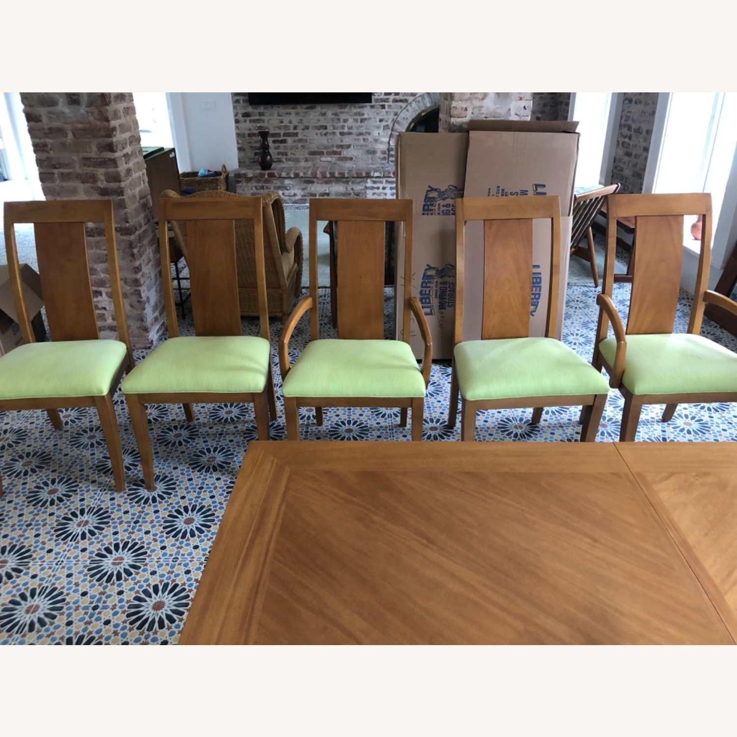 Ethan Allen High Back Dining Chair Set - image-1