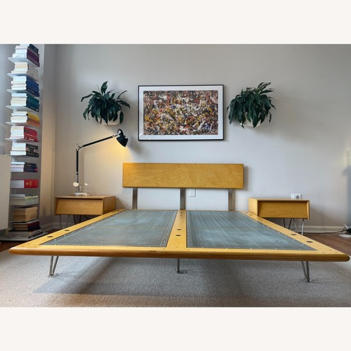 Used Modernica Case Study Queen Bed Classic Stain for sale on AptDeco