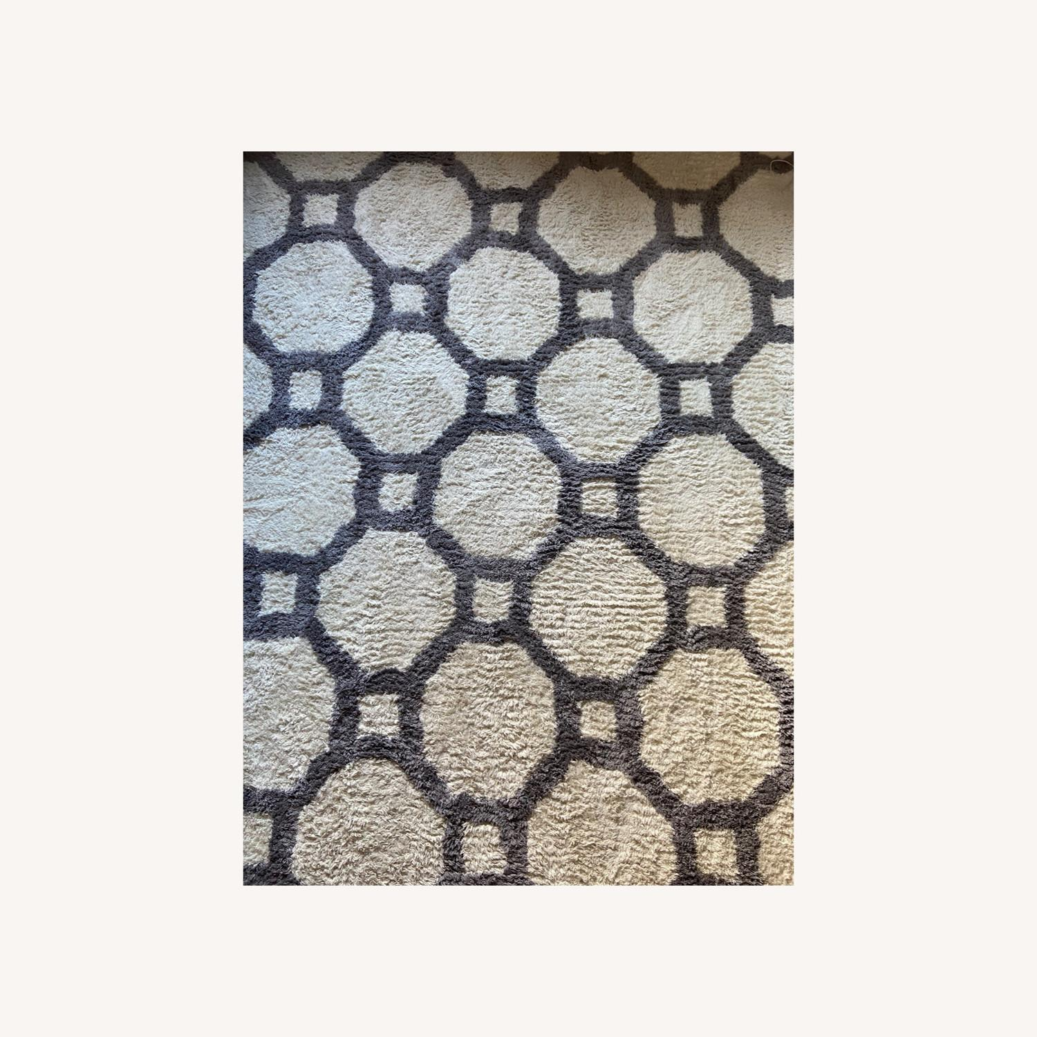 Gray and White Area Rug - image-0